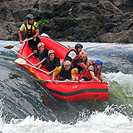 White-water rafting on the Victoria Nile, Uganda, Africa